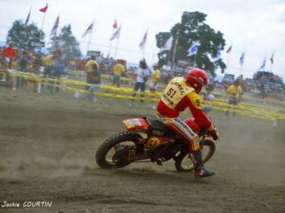 Laurence Spence on the Maico