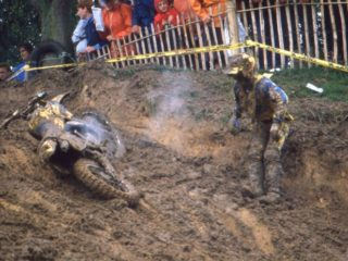 The 2nd moto was cancelled (GJ van Doorn is in the picture)
