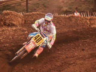 Jo Martens on a Honda
