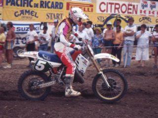 Nilsson on his Honda