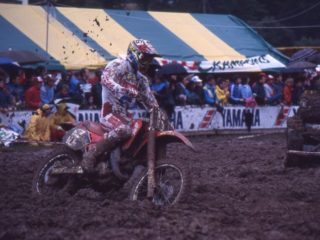 Tragter on his Honda