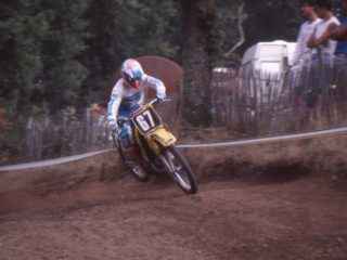 American Ricky Ryan on his Suzuki