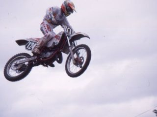Future 125cc star Alessio Chiodi scored a couple of points in 1989