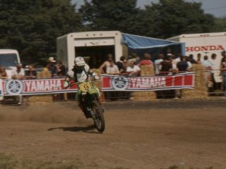 Brad Lackey, 2nd overall on his Kawasaki