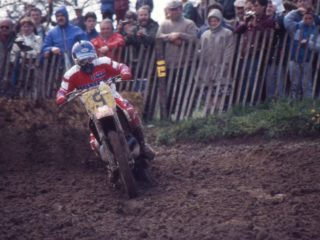The Kid on his factory HRC