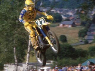Gert Jan van Doorn on his Suzuki