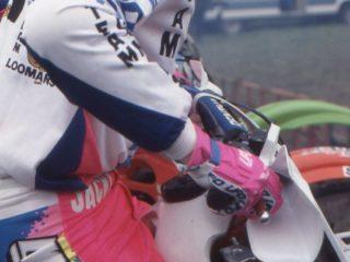 Jacky Martens starting his KTM