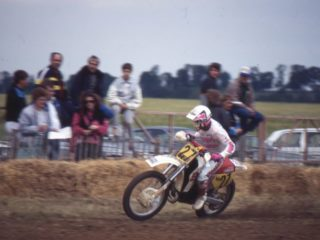 Kurt Ljunqvist on his Yamaha