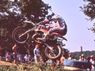 Kurt Nicoll, 2nd overall on the KTM in 1990