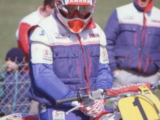 Persson won a moto in Sweden on his Yamaha
