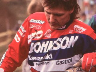 Liles in the famous Johnson Kawasaki colours