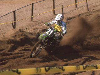 Massimo Contini scored 2 podium moto finishes on his Kawasaki