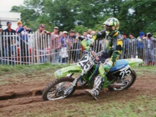 Seb Tortelli on his Kawasaki