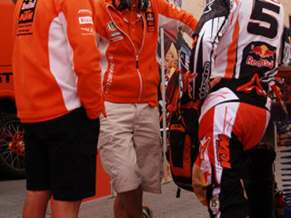 Max Nagl, team KTM with Stefan Everts
