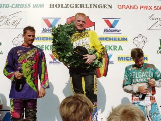 Liles won the Belgium GP and got a podium in Belgium (Smets (m) and Anstie (l))