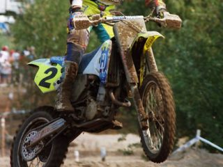 Jacky Martens on the Husqvarna in 1995