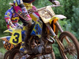 A familiar sight in 95: Parker battling Smets