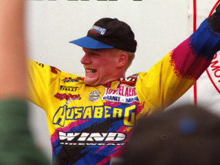 Joel Smets  after winning the title in 1995
