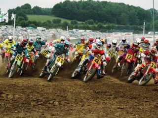 Georges Jobe (31) raced just a few GP's, here he almost has the holeshot