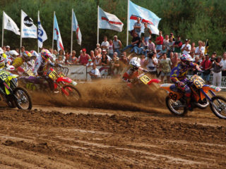 Parker (99) getting the holeshot