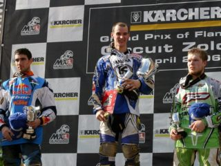 Tortelli, Everts and Leok on the Zolder podium