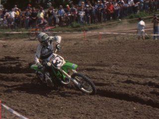 Tortelli won 16 motos on the Kawa